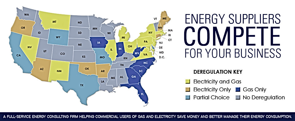 Deregulation Map for Energy