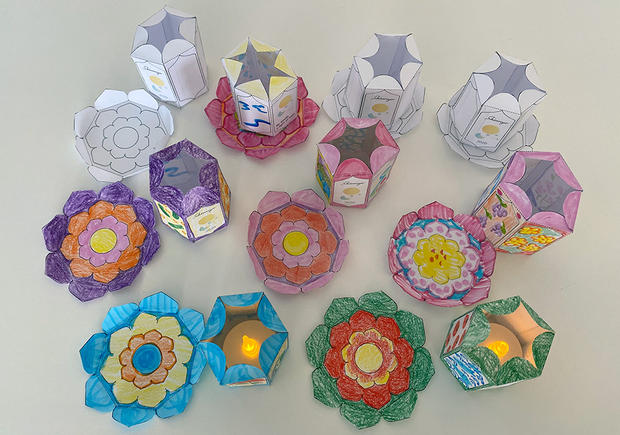 The bases of the lanterns can be decorated too!
