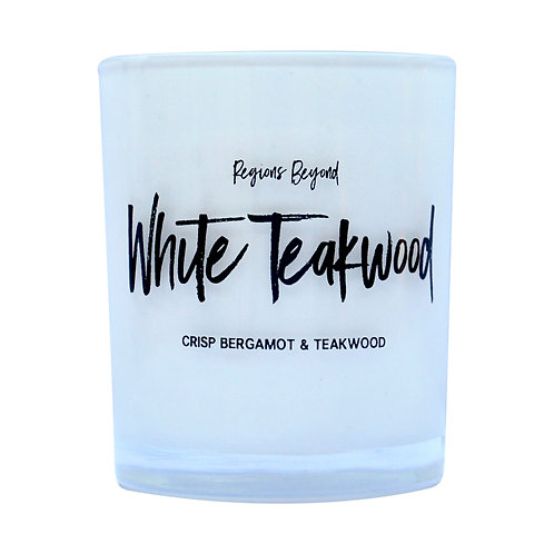 White Teakwood Candle