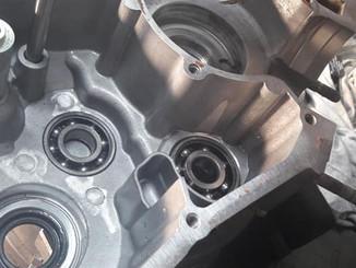 ריתוך וכירסום של בלוק מנוע של אופנוע