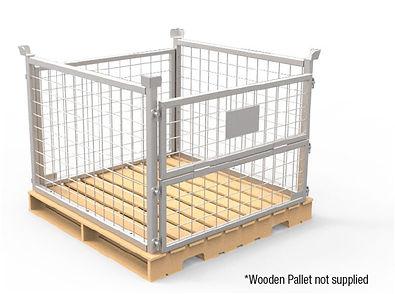 20A-PCC-A01 Pallet Cage Wooden Base-3.jp
