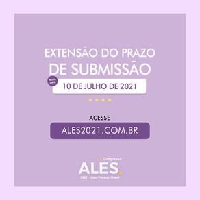 Extensão do prazo de submissão: 10/07/2021
