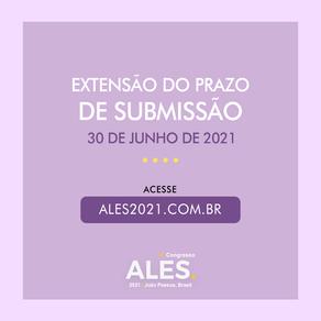 Extensão do prazo de submissão: 30/06/2021