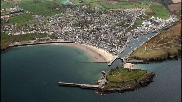 alan lineham web design isle of man aerial view of peel