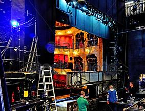 haods henley link to get involved photo of backstage set build