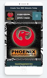 alan lineham web design isle of man phoenix soundworks mobile site screenshot