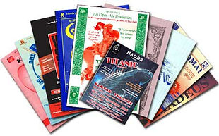 haods henely link to past productions gallery with photo of show programmes