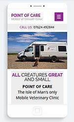 alan lineham web design isleof man point of care mobile site screenshot