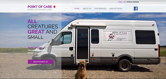 alan lineham web design isl of man point of care desktop site screenshot