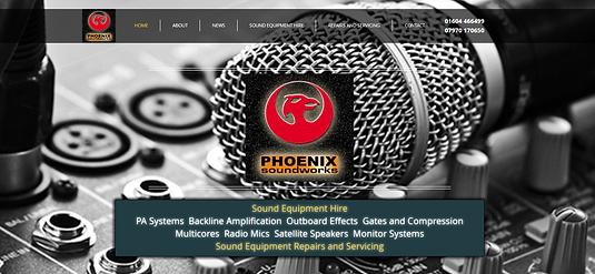 alan lineham web design isle of man phoenix soundworks desktop site screenshot