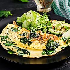 Omelette aux œufs Bio et tome des Bauges