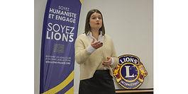 Méline Baiutti, lauréate du concours d'éloquence des Lions clubs