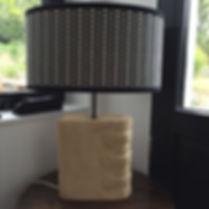 Abat-jour laine et coton sur pied en pie