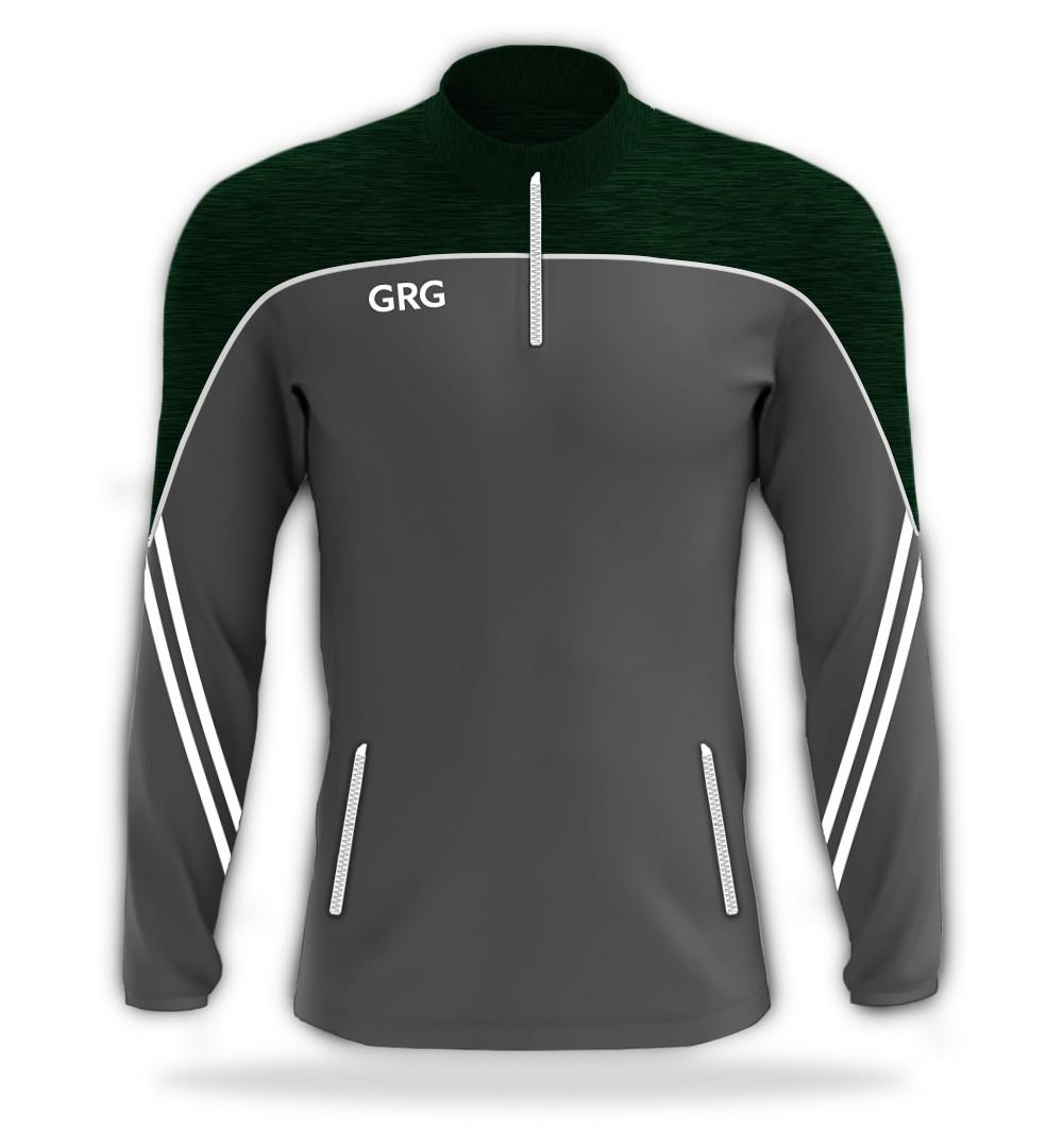 Grey - Green (Dark) Melange - White trim