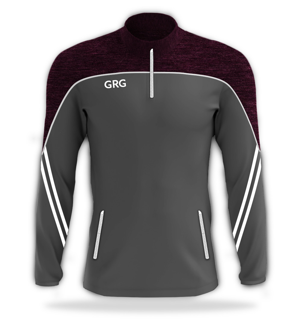 Grey - Maroon Melange - White trim.jpg