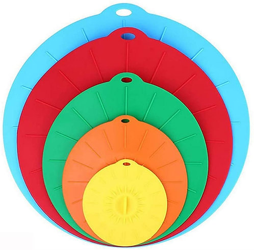 Silicone lids - set of 5
