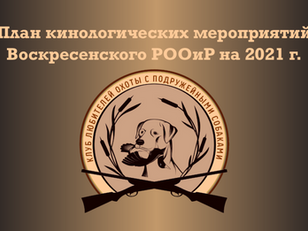 План кинологических мероприятий на 2021 г.