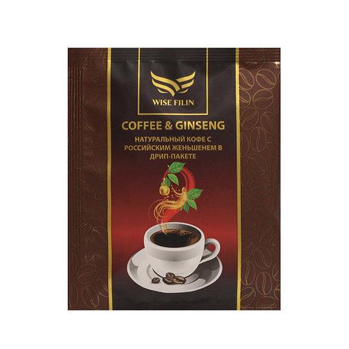 Кофе с женьшенем в дрип пакете, 7 гр