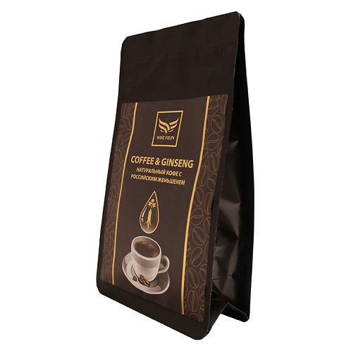 Кофе женьшеневый смесь Бразилия Сантос, 100 гр
