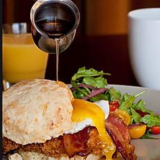 Fried Chicken & Cheddar Biscuit Sandwich