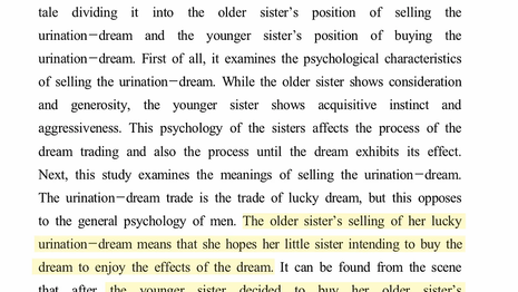 A Study on the Psychological Characteristics and Meanings of Abstract Urination-dream Trade in Tales