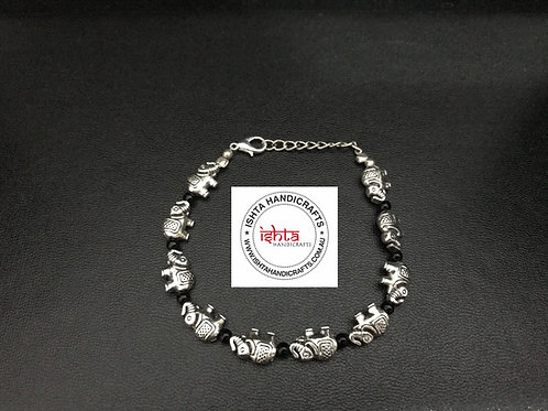 German Silver Elephant Bracelet