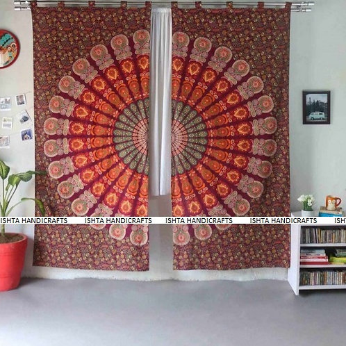 Enlightened Soul - Parwati Mandala Curtains