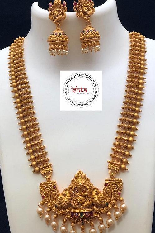 Ganesha Long Set with Jhumkas