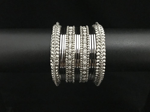 German Silver Bangle - Silver