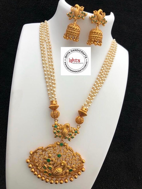Pearl Set with Jhumkas