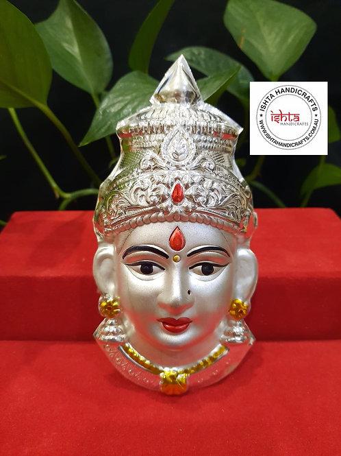 German Silver Lakshmi Face