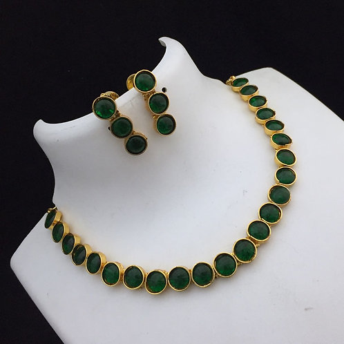 Green Kemp Necklace Set