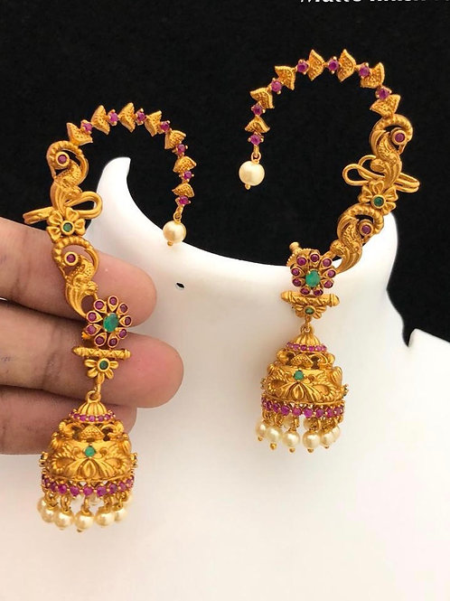 Matt Finish Long Jhumkas