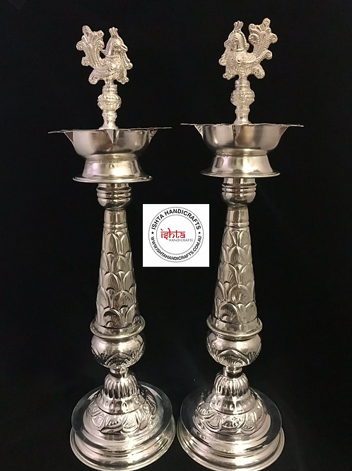 German Silver Pooja Lamps