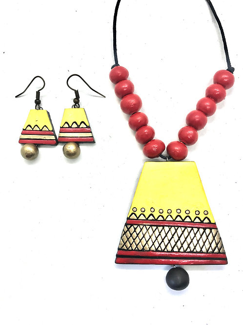 Yellow & Red Simple Terracotta Set