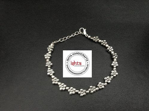 German Silver Flower Bracelet