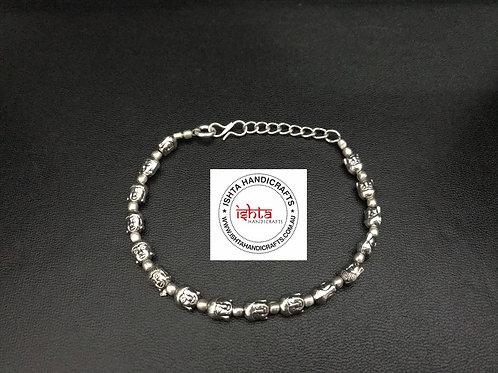 German Silver Buddha Bracelet