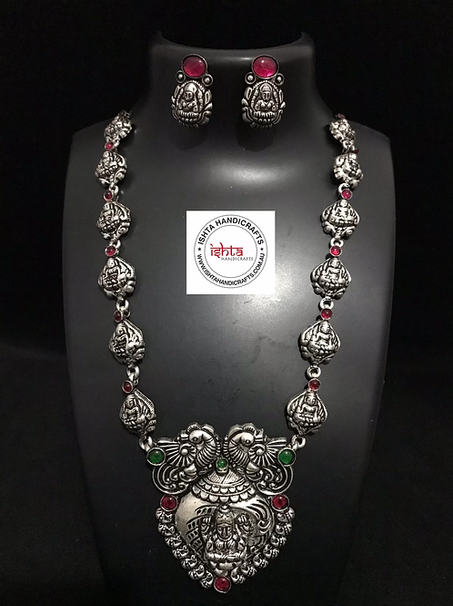 German Silver Long Set with Studs