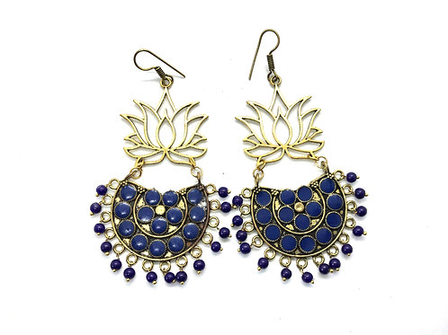 Afghani Ear Ring - Blue