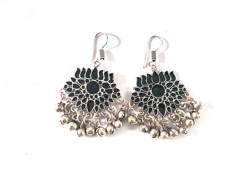Afghani Ear Rings - Black