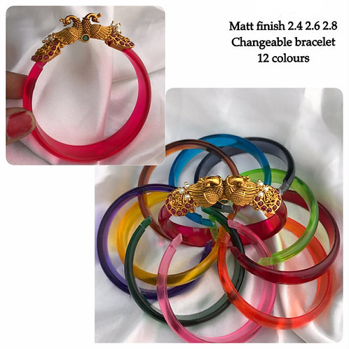Gold Matt Finish Changeable Bracelet