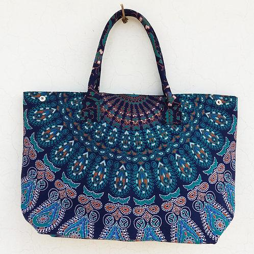 Dark Blue and Green Boho Handbag Ladies Handbag