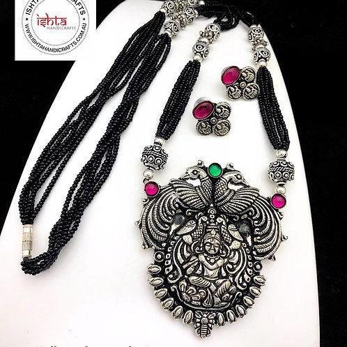 Lakshmi Kolhapuri Black Bead Set