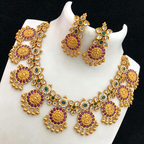 Traditional Lakshmi Set with Ear Rings
