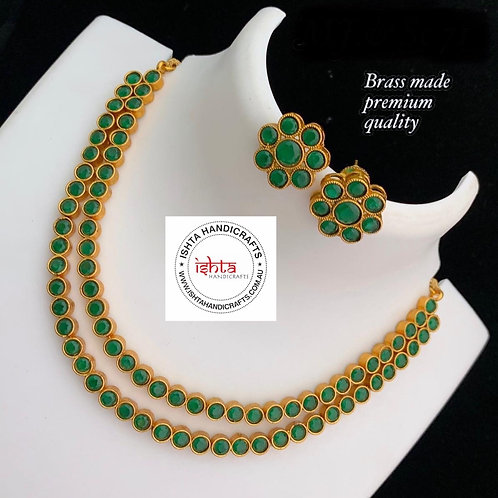 Step By Step Stone Set with Studs - Green