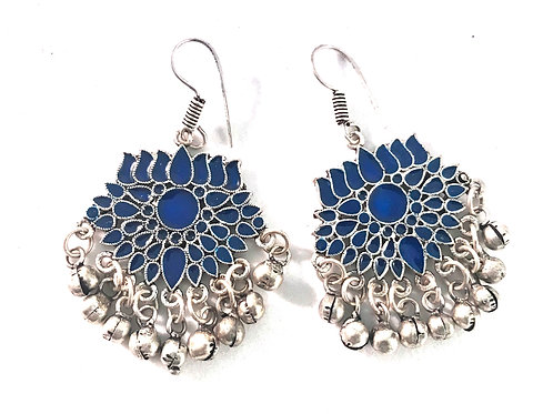 Afghani Ear Rings - Blue