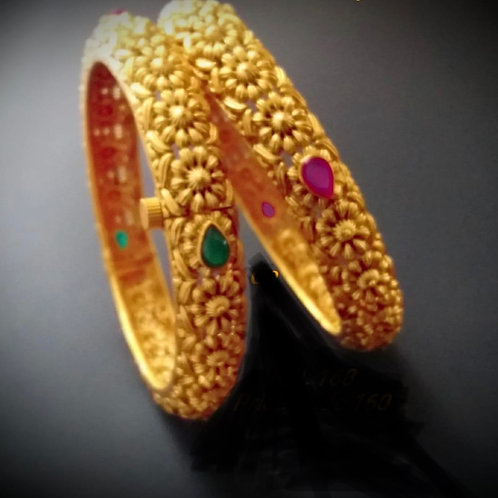 Matt Finish Screw Bangles - Multicolour
