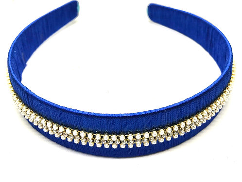 Hairband & Clips - Navy Blue
