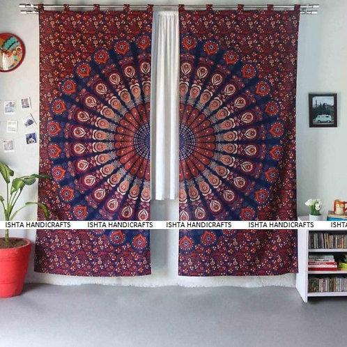 Enlightened Soul - Shakthi Mandala Curtains