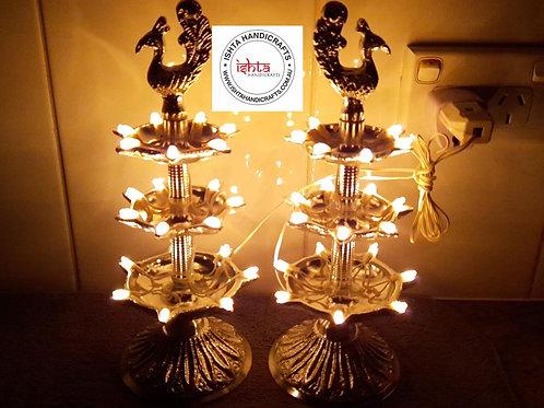 German Silver 3 Step Light Lamps
